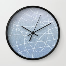 Scribble Linen - Denim Wall Clock