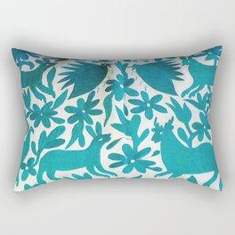 Otomi Cyan Rectangular Pillow