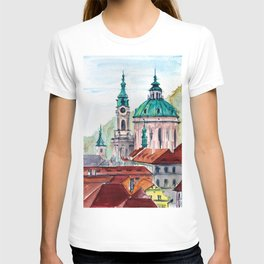 Prague Czech Republic watercolor T-shirt