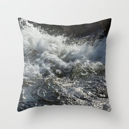 River Splash Throw Pillow