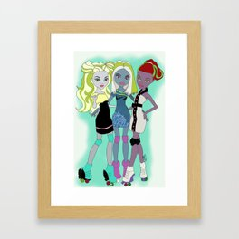 Monster Derby Girls  Framed Art Print
