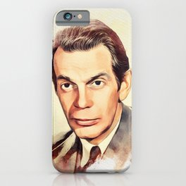 Raymond Massey, Vintage Actor iPhone Case