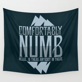 numb black Wall Tapestry