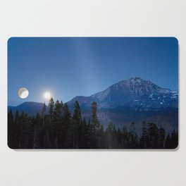 Moon Rising Over North Sister Cutting Board