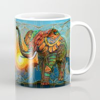 three of the possessed Mugs featuring Elephant's Dream by Waelad Akadan