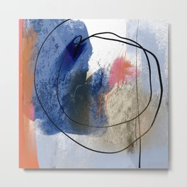 Orange and Blue No.11 Metal Print