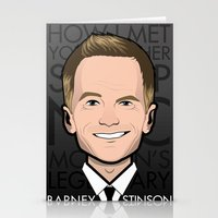 how i met your mother Stationery Cards featuring Barney Stinson - How I Met Your Mother by Mathieu Marcou