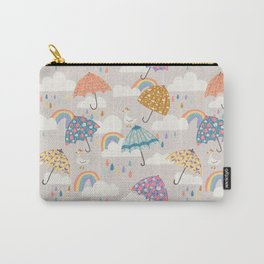 Rainbow Spring Showers Carry-All Pouch