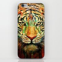 tiger iPhone & iPod Skins featuring Tiger by nicebleed