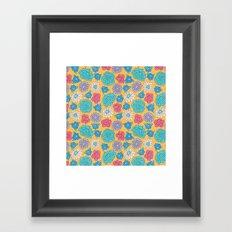 RocoFloral (mango) Framed Art Print