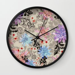 florally vintage; Wall Clock