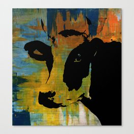 Graphic Cow Color Painting Poster Print by Robert Erod Canvas Print