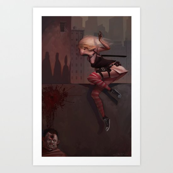 Bambi the Zombie Slayer Art Print