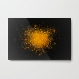 golden dust explosion Metal Print