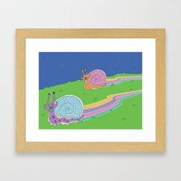 Snail Trail Framed Art Print