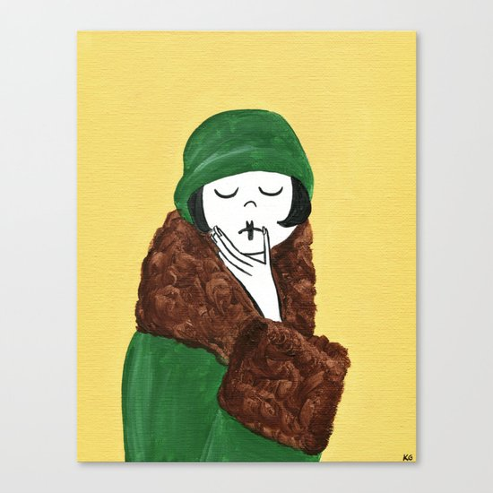 Ramona, deep in thought Canvas Print