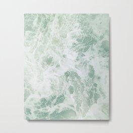 Mint Ocean Metal Print