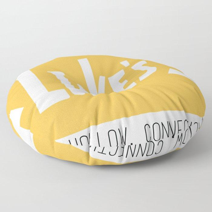 Lukes Diner Floor Pillow