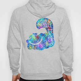 We're All Mad Here - Colorful Watercolor Hoody