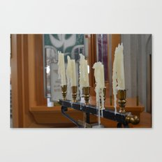 Melted Candles Canvas Print