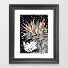 Rhino Party Framed Art Print