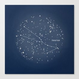 TAURUS - Astronomy Astrology Constellation Canvas Print