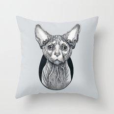 Sphynx cat Throw Pillow