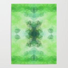 """Fresh greenery"" triangles design Poster"