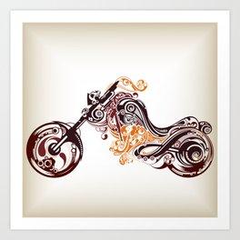 Abstract Motorcycle Art Print