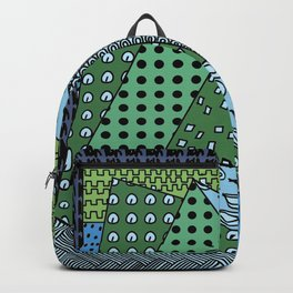 simple doodles . Green . Artwork Backpack