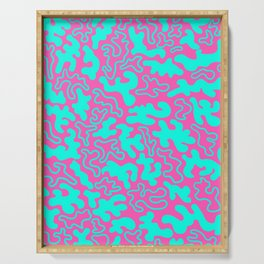 """Chic Germs - Pink & Teal"" Serving Tray"