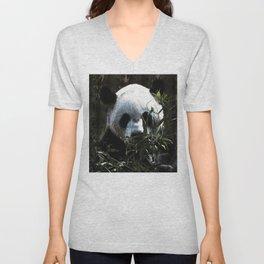 Chinese Giant Panda Bear Unisex V-Neck