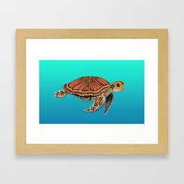 Sea Turtle Totem Framed Art Print