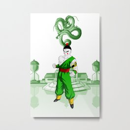 Tien Shinhan Dragon Ball Metal Print
