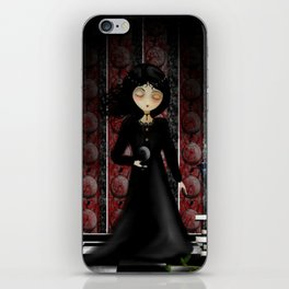 Melancholy Goth Girl This Time iPhone Skin