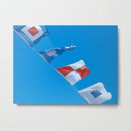 Nautical Flags Flying Metal Print