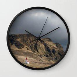 Church in Vik Iceland Wall Clock
