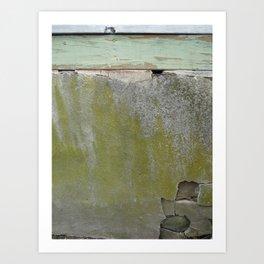 Crumbling Wall Art Print