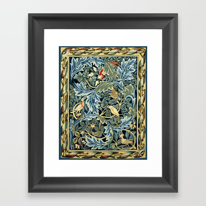 "William Morris ""Birds and Acanthus"" Gerahmter Kunstdruck"