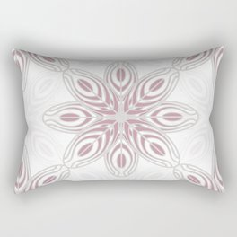 Feathers, Geometric Pattern in Mauve and Grey Rectangular Pillow
