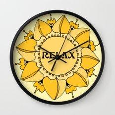 Relax Nouveau Golden Sun Mandala Wall Clock