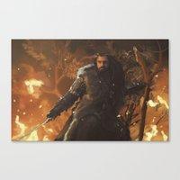thorin Canvas Prints featuring Thorin by PrintsofErebor