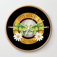 Super Soakers n Daisies Wall Clock