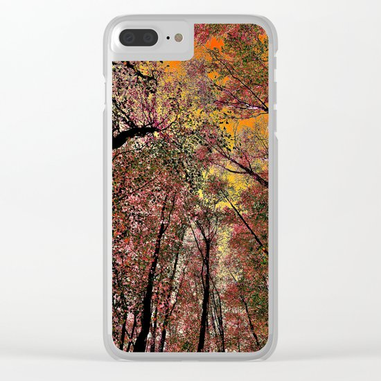 Colored forest Clear iPhone Case