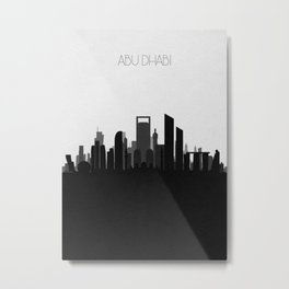 City Skylines: Abu Dhabi (Alternative) Metal Print