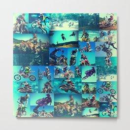 Tyler Durden Motocross Shirt Club Fight Cosplay Metal Print