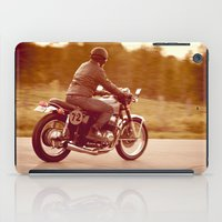 cafe racer iPad Cases featuring Vintage cafe racer by gabyjalbert
