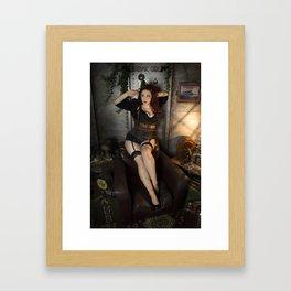 Dieselpunk Pin-up 1 Framed Art Print