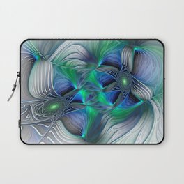 Fantasy Place, Abstract Fractal Art Laptop Sleeve