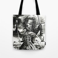 aragorn Tote Bags featuring Aragorn by Juan Pablo Cortes